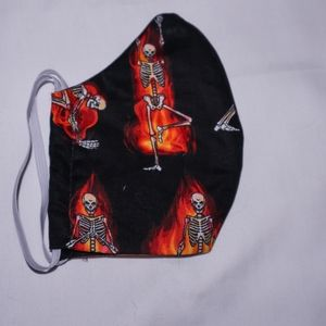 Skeletons on Fire Halloween Facemask